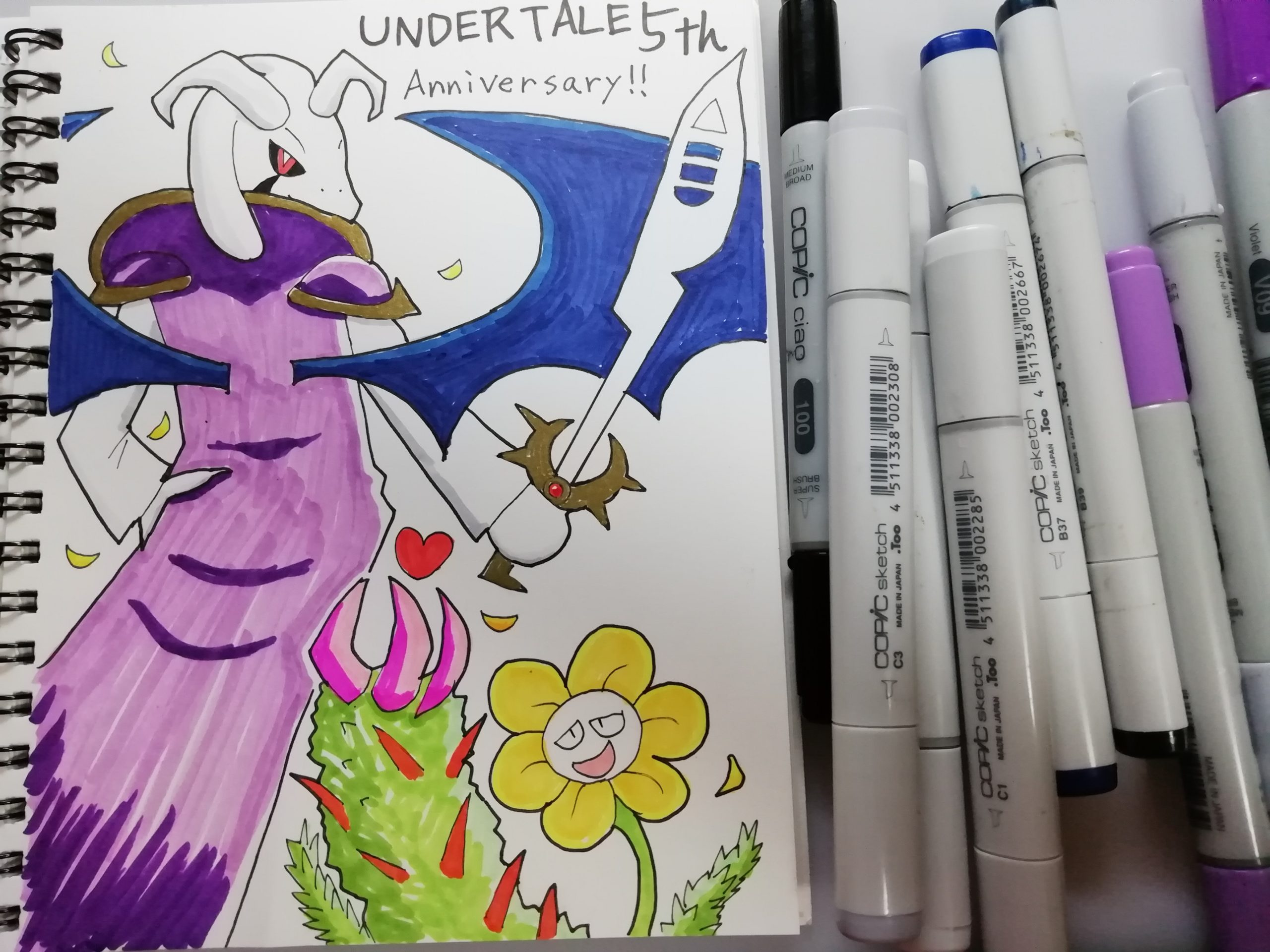 undertale5th記念絵